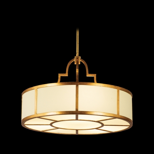 Fine Art Lamps Fine Art Lamps Portobello Road Dor Gold Pendant Light with Drum Shade 601740ST