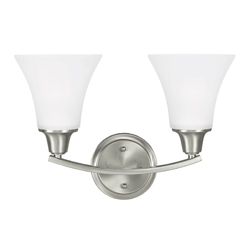 Sea Gull Lighting Sea Gull Lighting Metcalf Brushed Nickel Bathroom Light 4413202BLE-962