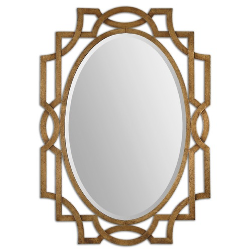 Uttermost Lighting Uttermost Margutta Gold Oval Mirror 12869