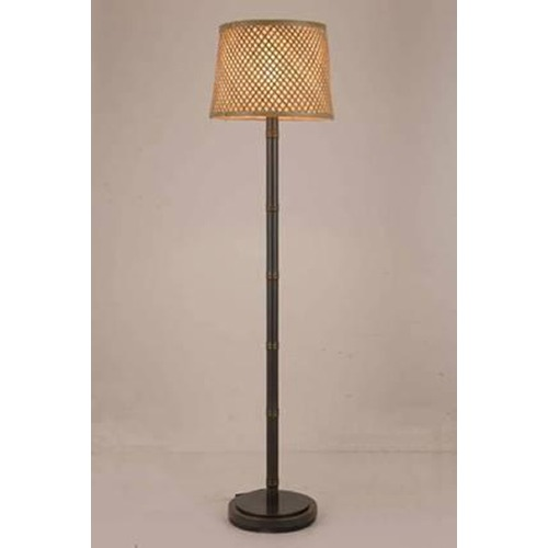 Lite Source Lighting Lite Source Tamarice Dark Bronze Floor Lamp with Drum Shade LS-82784