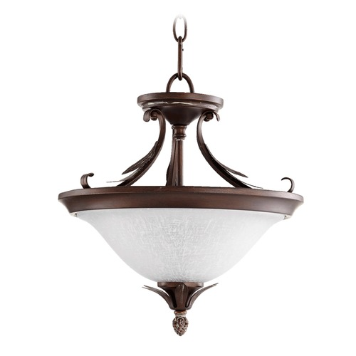 Quorum Lighting Quorum Lighting Flora Vintage Copper Pendant Light with Bowl / Dome Shade 2972-13-39
