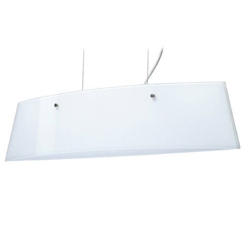 Besa Lighting Besa Lighting Silhouette Satin Nickel LED Island Light with Rectangle Shade LS3-445406-LED-SN