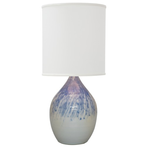 House of Troy Lighting House Of Troy Scatchard Decorated Gray Table Lamp with Cylindrical Shade GS301-DG