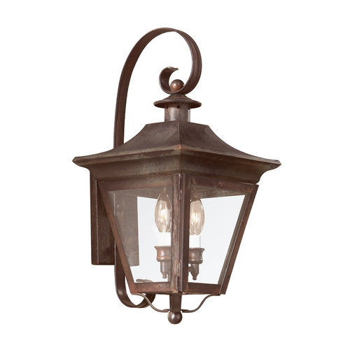 Troy Lighting Seeded Glass Outdoor Wall Light Bronze Troy Lighting B8930NR