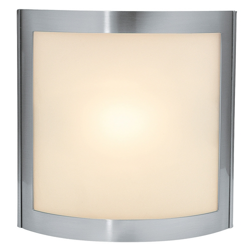 Access Lighting Modern Bathroom Light with White Glass in Satin Nickel Finish 62081-SAT/FST