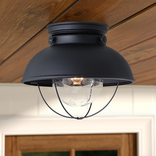 Sea Gull Lighting Marine / Nautical Close to Ceiling Light Black Sebring by Sea Gull Lighting 8869-12