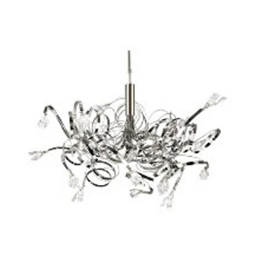 PLC Lighting Modern Chandelier in Satin Nickel Finish 6046 SN