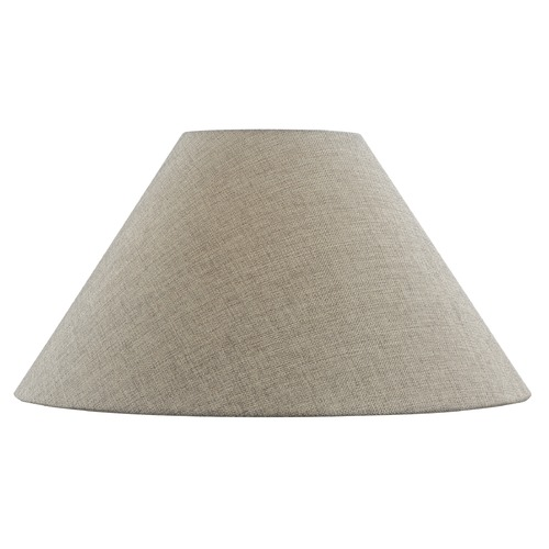Design Classics Lighting Dark Burlap Coolie Fabric Lamp Shade with Spider Assembly SH9702