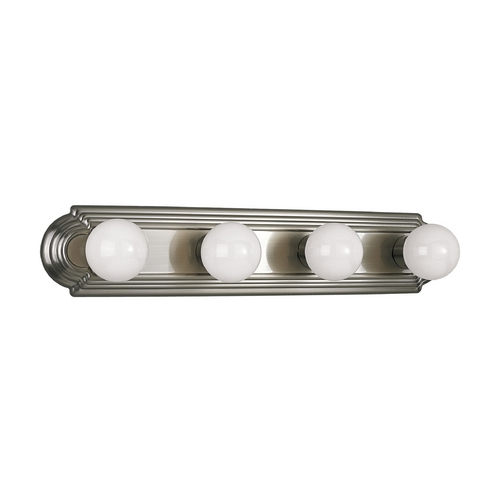 Progress Lighting Progress Bathroom Light in Brushed Nickel Finish P3025-09