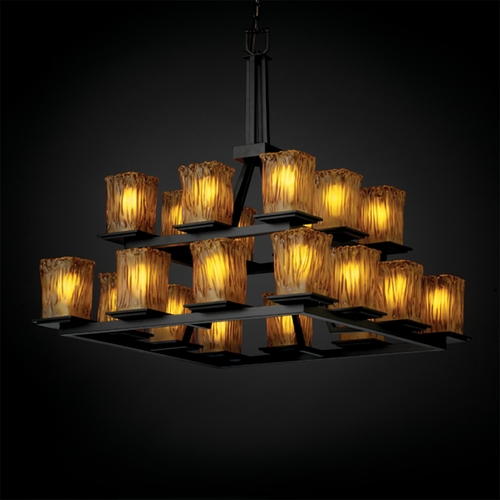 Justice Design Group Justice Design Group Veneto Luce Collection Chandelier GLA-8667-26-AMBR-MBLK