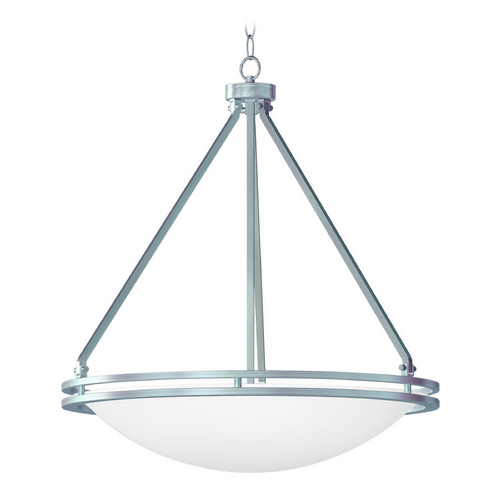 Access Lighting Access Lighting Aztec Brushed Steel Pendant Light C20462BSWHTEN1158C