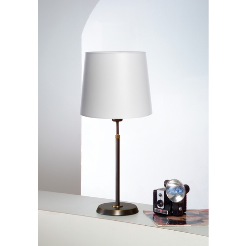 Holtkoetter Lighting Holtkoetter Modern Table Lamp with White Shade in Hand-Brushed Old Bronze Finish 6263 HBOB SWRG