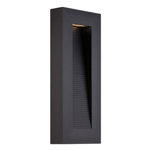 Modern Forms by WAC Lighting Modern Forms Urban Black LED Outdoor Wall Light WS-W1116-BK