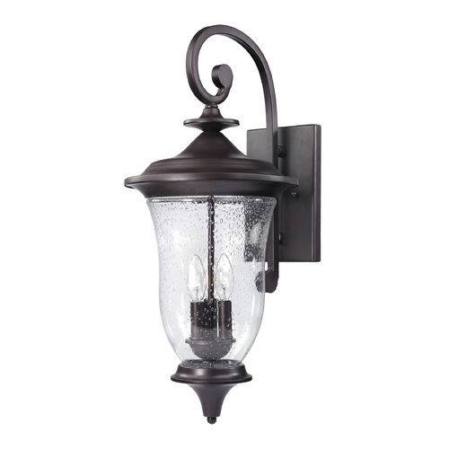 Thomas Lighting Seeded Glass Outdoor Wall Light Oil Rubbed Bronze Thomas Lighting 8003EW/75