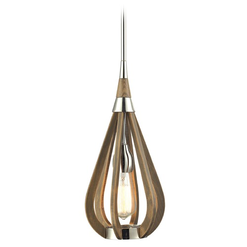 Elk Lighting Elk Lighting Janette Polished Nickel Mini-Pendant Light 31554/1