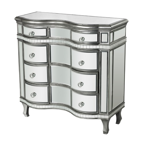 Sterling Lighting Curved Mirror Chest 114-151