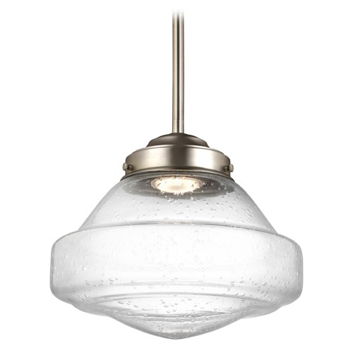 Feiss Lighting Feiss Alcott Satin Nickel LED Mini-Pendant Light P1378SN-LED