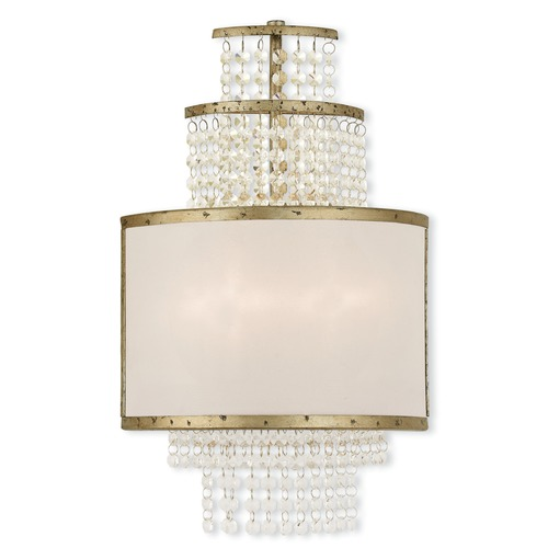 Livex Lighting Livex Lighting Prescott Hand Applied Winter Gold Sconce 50782-28