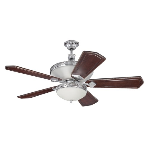 Craftmade Lighting Craftmade Lighting Saratoga Chrome Ceiling Fan with Light K11251