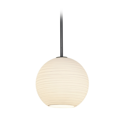 Access Lighting Modern Pendant Light with White Glass in Oil Rubbed Bronze Finish 28088-1R-ORB/WHTLN