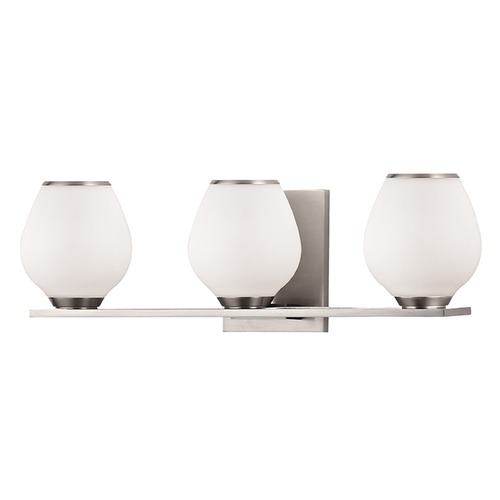 Hudson Valley Lighting Verona 3 Light Bathroom Light - Satin Nickel 1193-SN