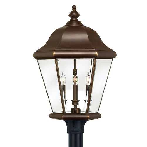 Hinkley Lighting Post Light with Clear Glass in Copper Bronze Finish 2407CB
