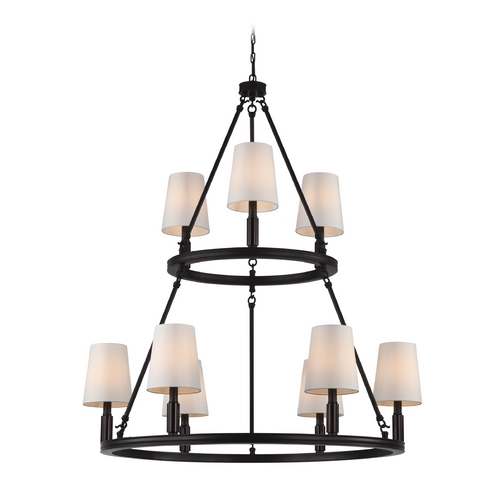 Feiss Lighting Feiss Lighting Lismore Oil Rubbed Bronze Chandelier F2937/3+6ORB