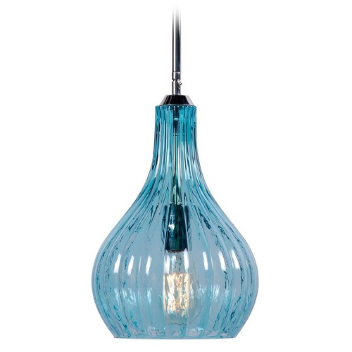 Kenroy Home Lighting Kenroy Home Lighting Darcy Chrome Mini-Pendant Light with Fluted Shade 93102CH