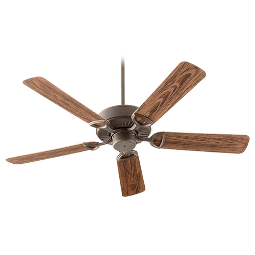Quorum Lighting Quorum Lighting Estate Patio Oiled Bronze Ceiling Fan Without Light 143525-86