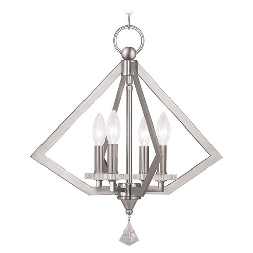 Livex Lighting Livex Lighting Diamond Brushed Nickel Pendant Light 50664-91