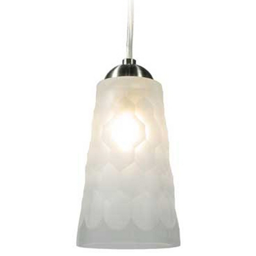 Oggetti Lighting Oggetti Lighting Oasis Satin Nickel Mini-Pendant Light with Cylindrical Shade 29-514A