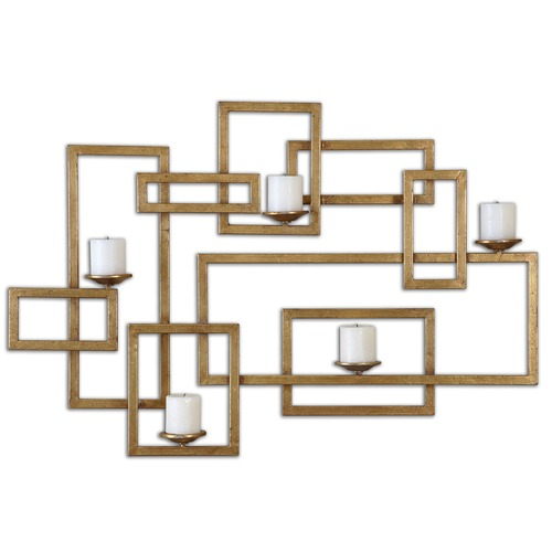 Uttermost Lighting Uttermost Brighton Gold Wall Sconce 12871