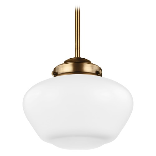 Feiss Lighting Feiss Alcott Aged Brass LED Mini-Pendant Light P1383AGB-LED