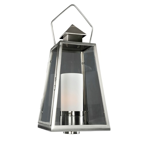 Kalco Lighting Kalco Shorecrest Brushed Stainless Steel Post Light 400590SL