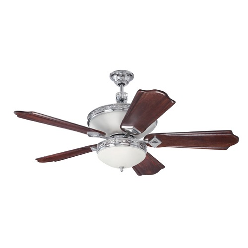 Craftmade Lighting Craftmade Lighting Saratoga Chrome Ceiling Fan with Light K11252