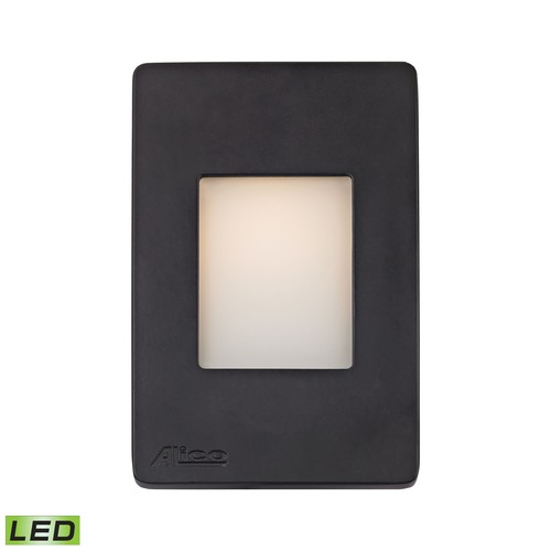 Alico Industries Lighting Alico Lighting Beacon Black LED Recessed Step Light WLE1105C30K-10-31