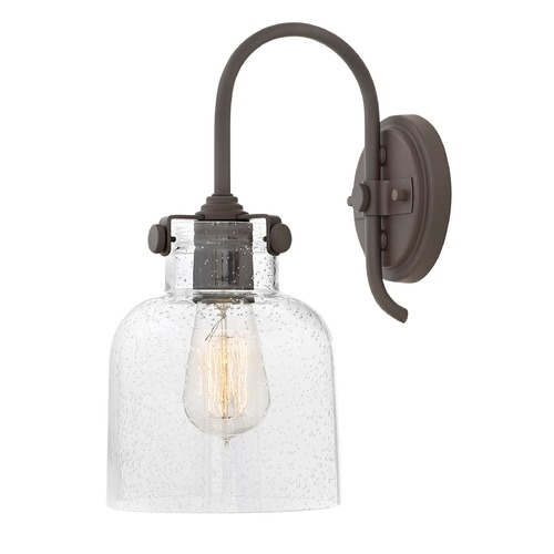 Hinkley Bronze Industrial Seeded Glass Wall Sconce by Hinkley 31700OZ