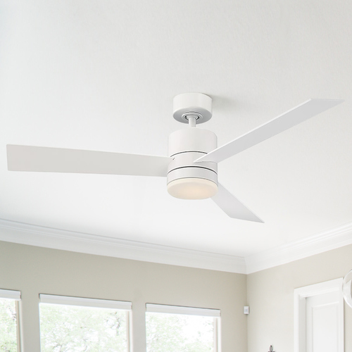 Modern Forms by WAC Lighting Modern Forms Matte White 52-Inch LED Smart Ceiling Fan 2700K 1600LM FR-W1803-52L-27-MW