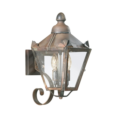 Troy Lighting Outdoor Wall Light with Clear Glass in Natural Rust Finish B8940NR