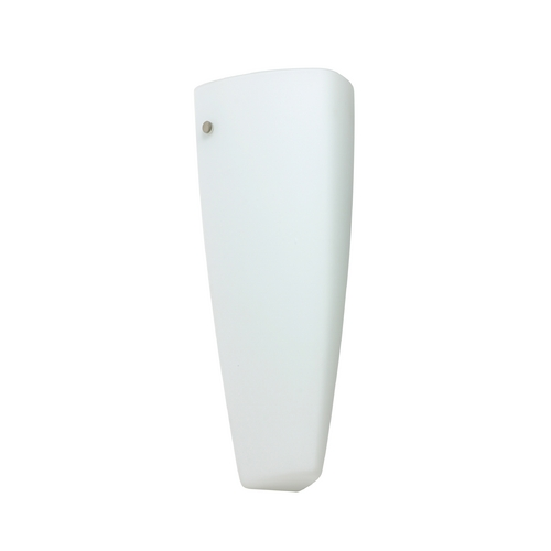 Besa Lighting Sconce Wall Light with White Glass in Satin Nickel Finish 708307-SN