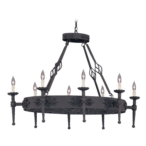 Designers Fountain Lighting Chandelier in Natural Iron Finish 9188-NI