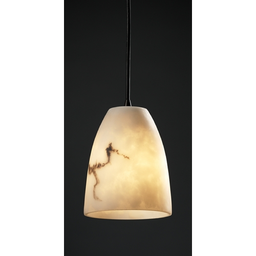 Justice Design Group Justice Design Group Lumenaria Collection Mini-Pendant Light FAL-8815-18-DBRZ