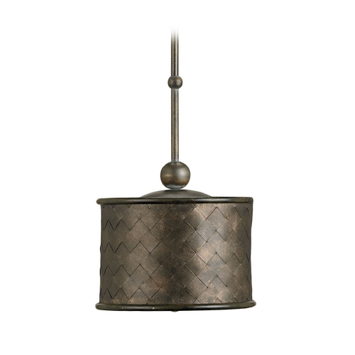 Currey and Company Lighting Drum Pendant Light with Metal Iron Shade 9054