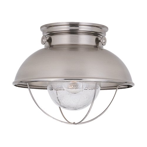 Sea Gull Lighting Marine / Nautical Close to Ceiling Light Brushed Stainless Sebring by Sea Gull Lighting 8869-98