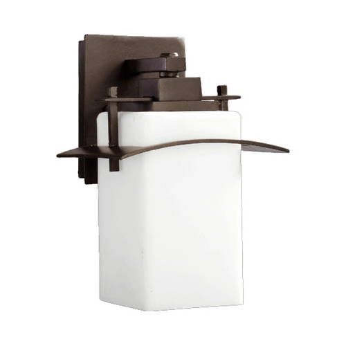 Quorum Lighting Quorum Lighting 7200-8-86 Outdoor Wall Light With White Glass - 11-1/4-Inches Tall 7200-8-86