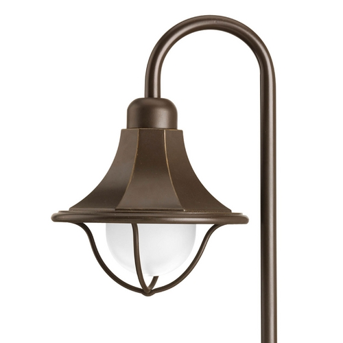 Progress Lighting Path Light with White Glass in Antique Bronze Finish P5253-20
