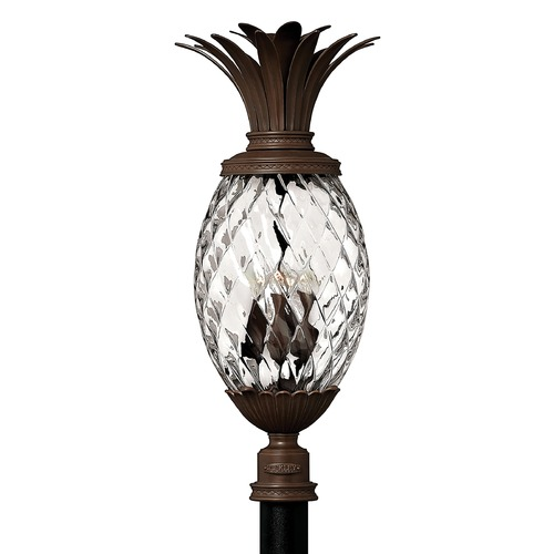 Hinkley 29-1/2 Inch Copper Bronze Pineapple Outdoor Post Light 2227CB