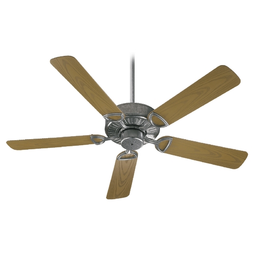 Quorum Lighting Quorum Lighting Estate Patio Galvanized Ceiling Fan Without Light 143525-9