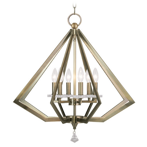Livex Lighting Livex Lighting Diamond Antique Brass Pendant Light 50666-01