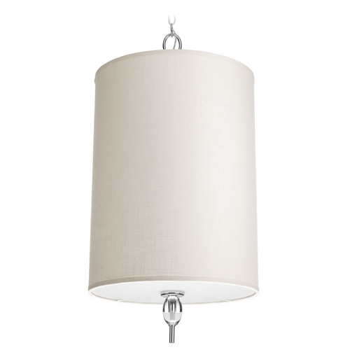Progress Lighting Progress Lighting Status Polished Chrome Pendant Light with Cylindrical Shade P3661-15